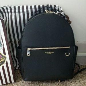Henri Bendel black leather backpack
